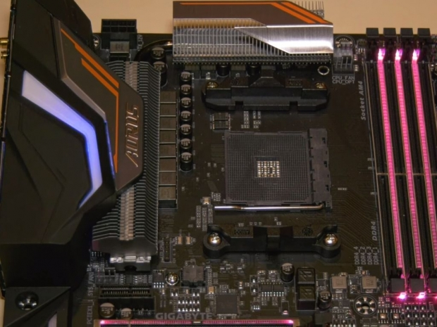 Gigabyte's X470 motherboard spotted on CES floor