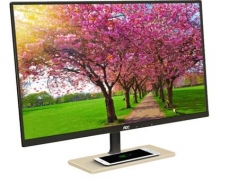 "AOC releases HD 27"" PLS Monitor with a Qi Wireless Charging Base"
