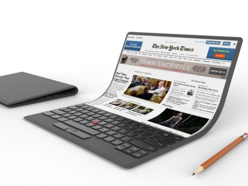 Lenovo goes crazy with flexible screen notebook concept